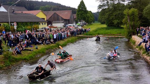 Sautrog-Rennen in Degerndorf