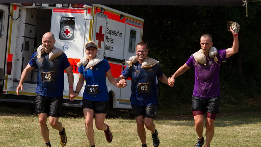 Team Dakota lief gleich im Viererpack über die Ziellinie.