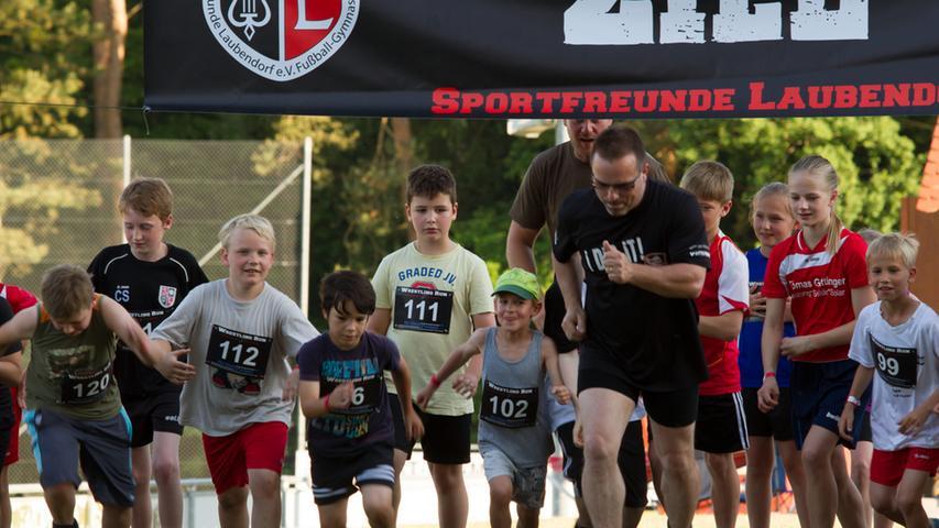 Am Vorabend durften sich die Kinder auf einem Teil der Strecke erproben.