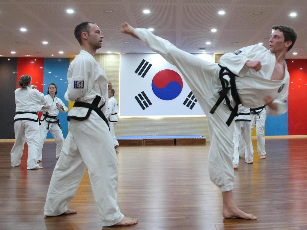 Auch Schwabacher Taekwon-Do-Schüler durften ihr Können unter Beweis stellen.