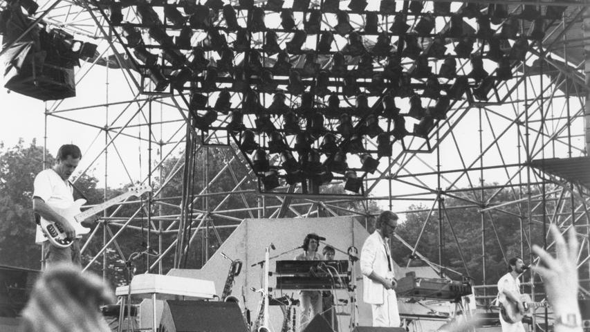 FOTO:NN / Steffen Radlmaier; veröff. am 14.06.1983; Historisch; 1980er...MOTIV:  Konzert der Band Supertramp in Frankfurt.