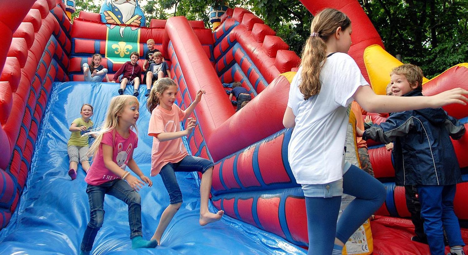 Beim Bürgerfest in Buckenhof konnten sich auch die Kinder des Ortes richtig austoben.