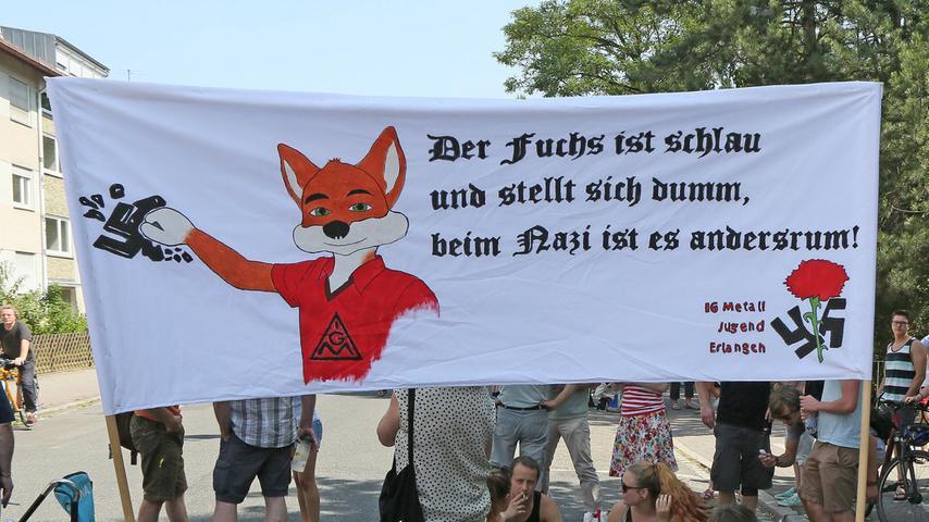 In den vergangenen Jahren fanden immer wieder Demonstration gegen die rechte Studentenverbindung Frankonia statt.