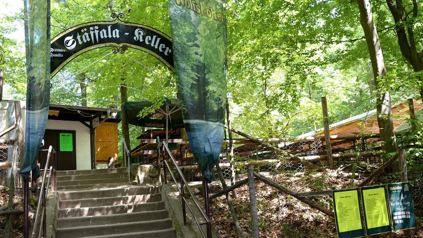 Nochmal durchschnaufen vor der Party: Der Stäffala-Keller wird noch etwas