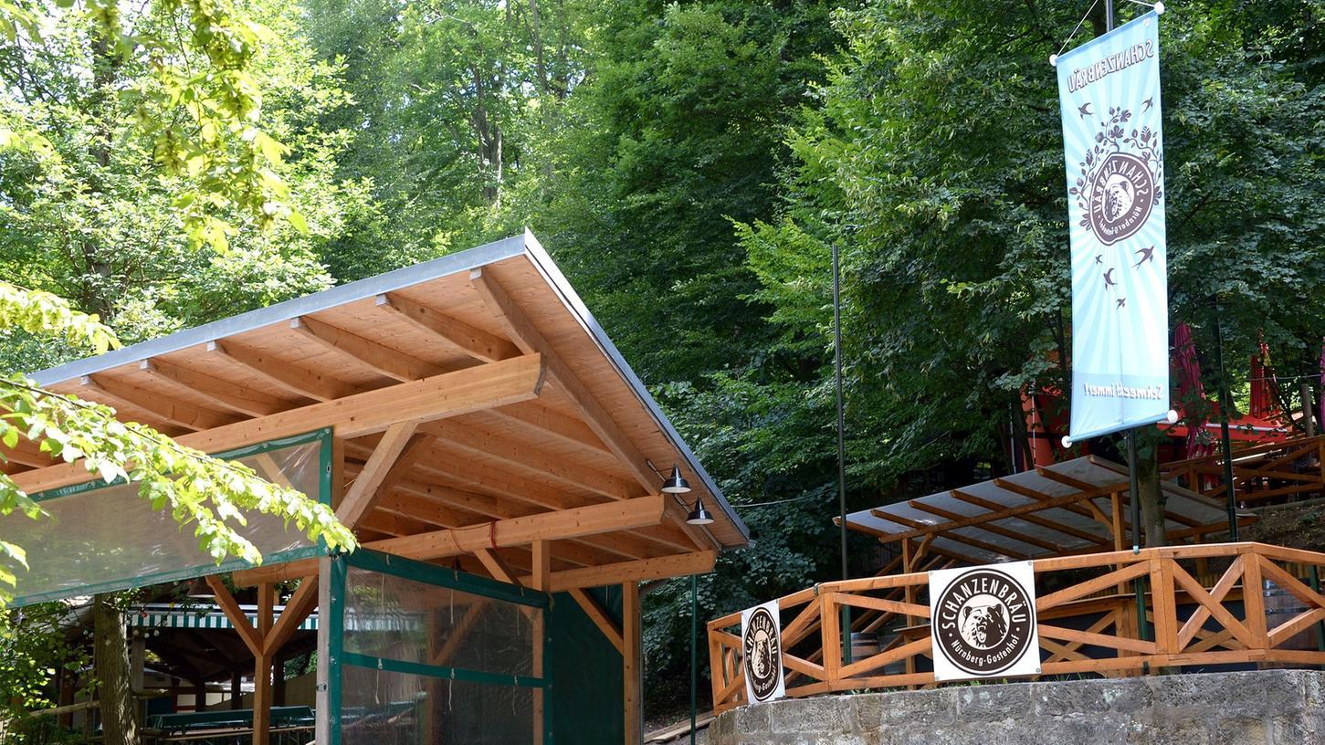 Nur fürs Annafest (bezwiehungsweise kurz vorher und nachher) geöffnet hat der Schäffbräu-Keller.