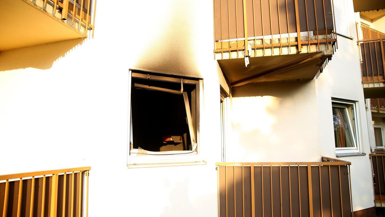 Das ausgebrannte Zimmer des Pflegeheimes.