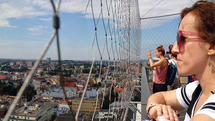 Blick vom Turm des neuen Rathauses auf Ostrau.