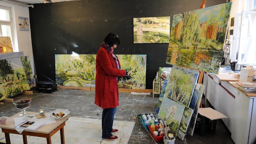 Beim Gastspiel 2014 konnte man einen Blick ins Atelier von Birgit Maria Götz werfen.
