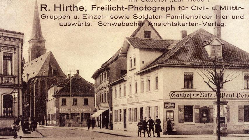 Fotos von R. Hirthe zeigen Schwabach Anfang des 20. Jahrhunderts