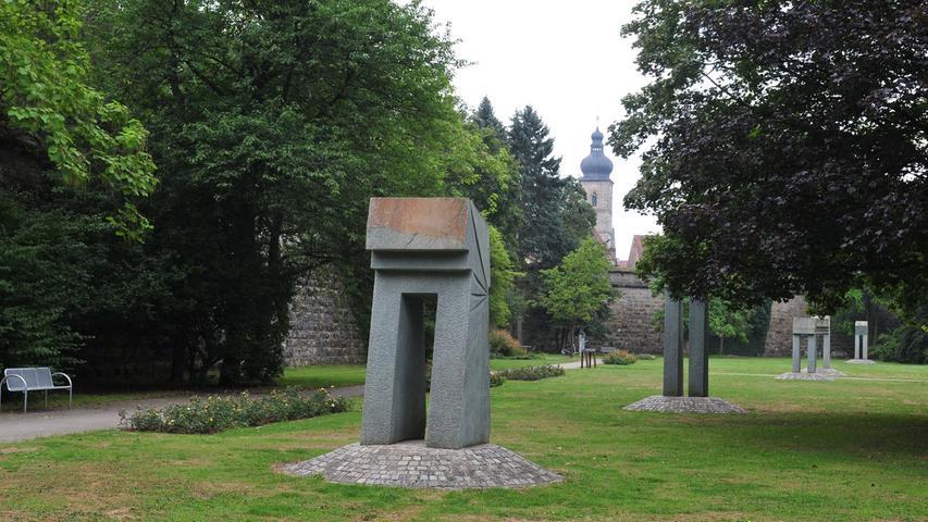 Fünf Skulpturen im Stadtpark