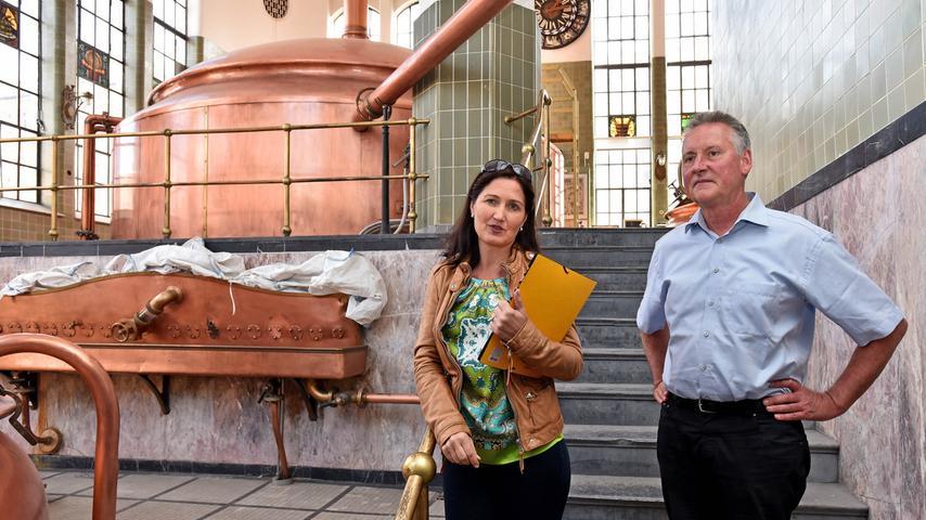 Motiv: Malzböden / Das denkmalgeschützte Fabrikgebäude der ehemaligen Brauerei  Humbser / Besichtigung mit OB Thomas Jung und Isabel Fürsattel (MIP)..Foto:  Mark Johnston