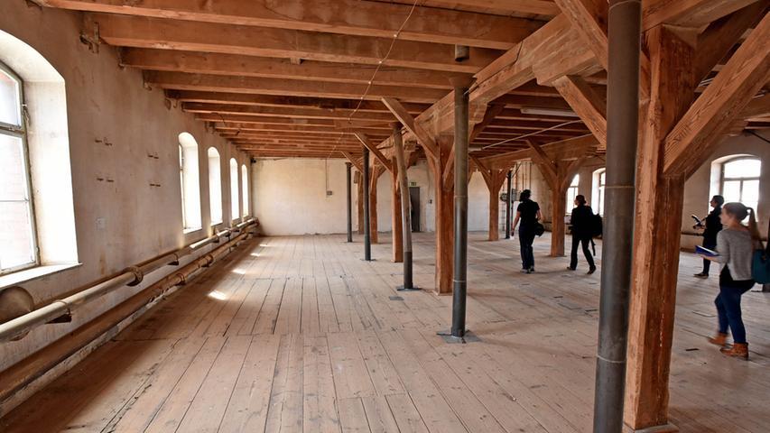 Die eigentlichen Malzböden an der Schwabacher Straße: In den Obergeschossen wurde das Malz gelagert.