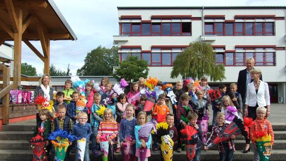 ABC-Schützen rund um Pegnitz und Auerbach: Schultütenbepackt zum ersten Schultag