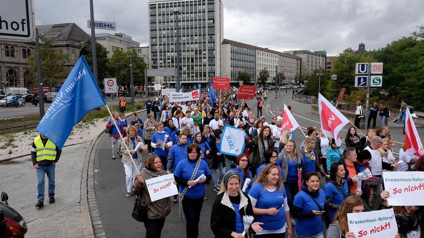 Lokales..Foto: Guenter Distler..Motiv: Demonstration gegen Krankenhaus-Reform