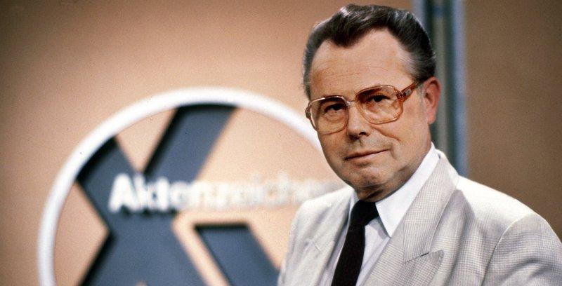 Medienjournalist Eduard Zimmermann suchte in der Fahndungssendung