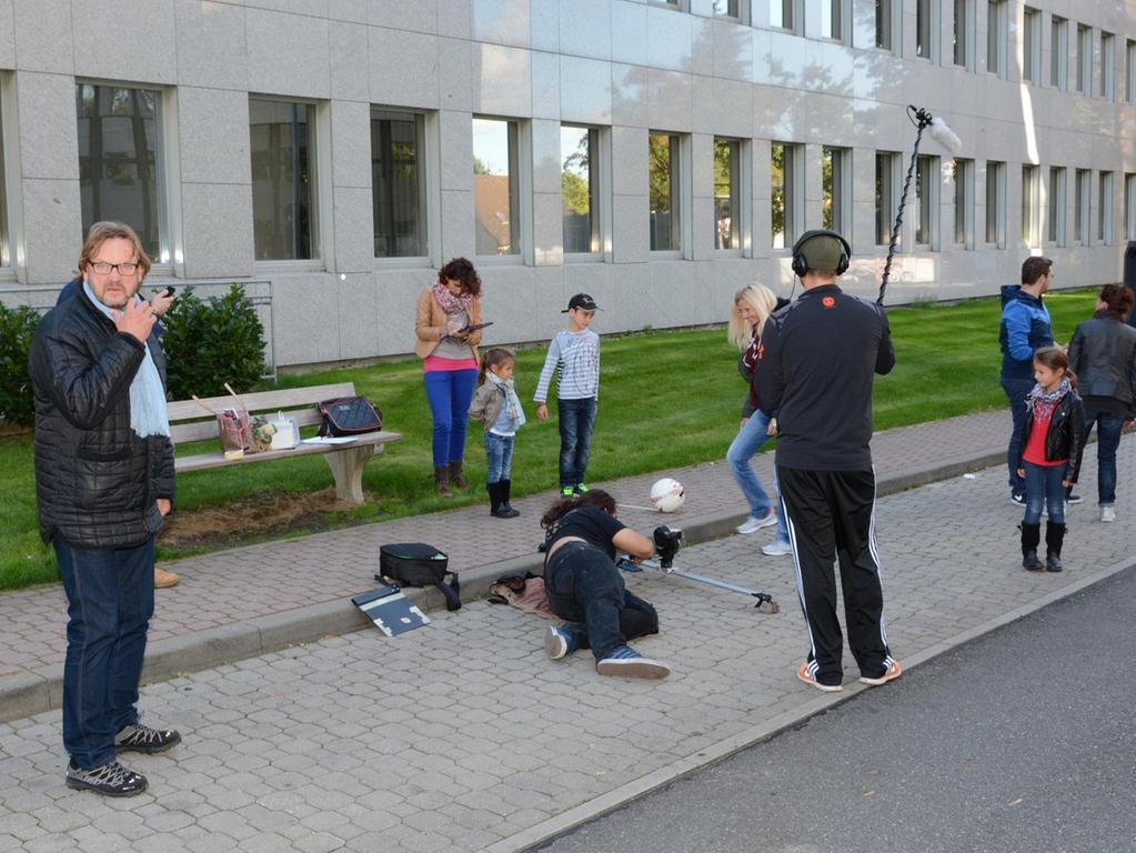 Dreharbeiten zu Macho Man 2 im Südwestpark Nürnberg, am Set mit Peter Althof,  27.09.2015, ToMa-Fotografie