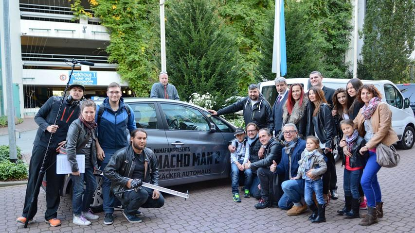 Dreharbeiten zu Macho Man 2 im Südwestpark Nürnberg, das heutigeTeam,  27.09.2015, ToMa-Fotografie