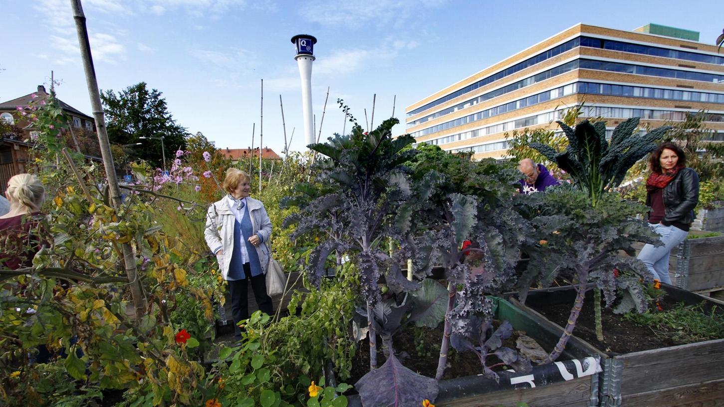 Mobiles Grün: Viele Anwohner nutzten das Erntefest zum Saisonende, um sich im Stadtgarten umzuschauen.