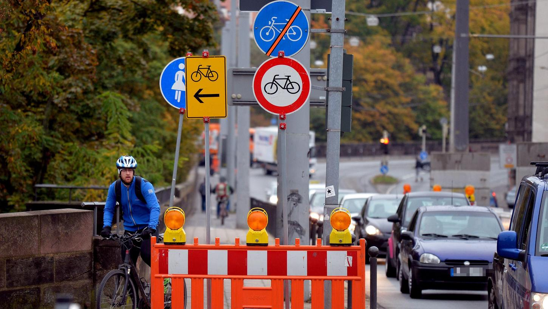 Das Umleitungskonzept am Hallertor sorgt für Zündstoff: In der Kritik steht auch das Verbot für Radfahrer zwischen Haller- und Westtor.
