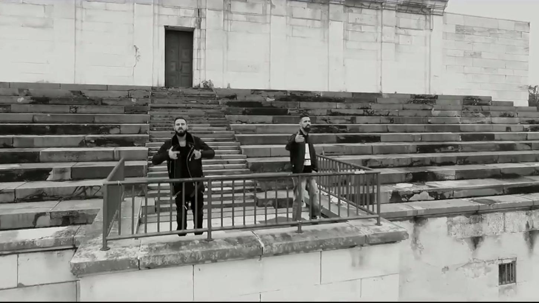 Bushido und Shindy auf dem ehemaligen Reichsparteitagsgelände. Ein