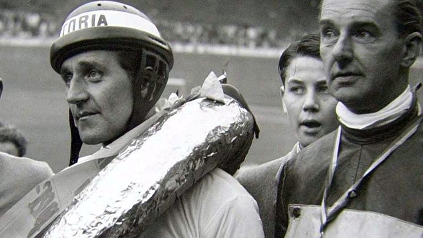 Heinz Jkobi (li) war drei Mal Meister der Profi-Steher (1956, 1958, 1959).