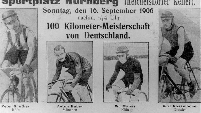 1906 fand die erste Deutsche Meisterschaft am Reichelsdorfer Keller statt.