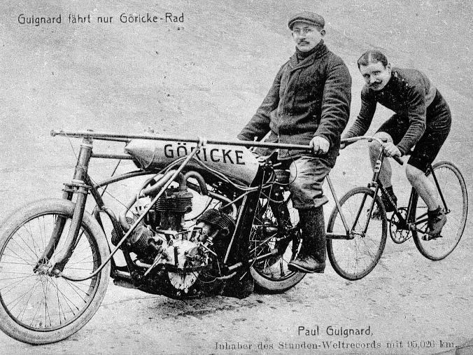 Seit über 100 Jahren Steher-Wettkämpfe am Reichelsdorfer Keller - auch der  legendäre Franzose Paul Guignard war gern gesehener Gast ?am Keller?.
