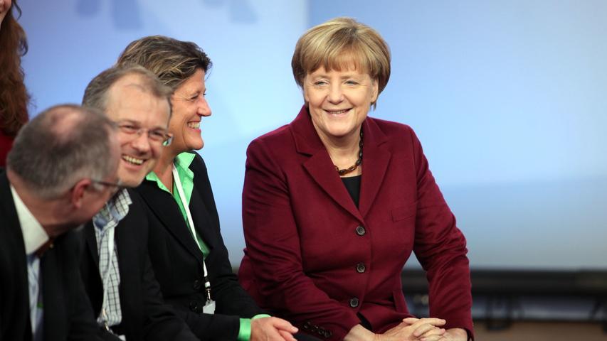 Bürgerdialog in Nürnberg: Bundeskanzlerin Angela Merkel besuchte am 26.Oktober 2015 Nürnberg und traf sich mit Bürgern auf der Kaiserburg zum Dialog