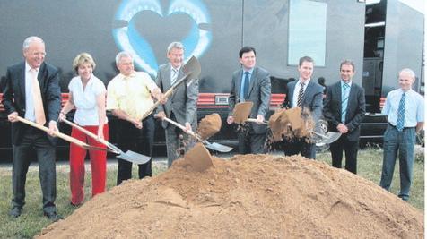Jetzt geht's los: Die Biogasanlage ensteht im Industrie- und Gewerbepark Gollhofen-Ippesheim (Gollipp).