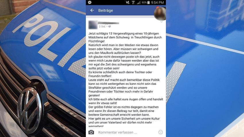 Dieser Facebook-Post wurde von dem 22-Jährigen gesetzt. Die Behauptungen darin sind falsch.