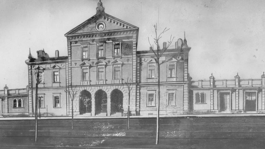 Die meisten Fürther haben ihn nicht mehr erlebt: Der Ludwigsbahnhof befand sich dort, wo heute die Fürther Freiheit ist.