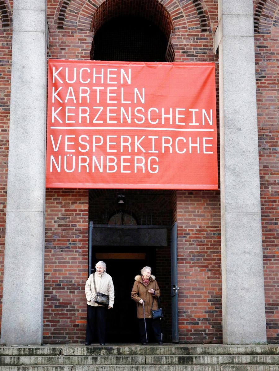Nuernberg , 17.01.2016..Ressort: Lokales Fotografie: Stefan  Hippel..Gustav-Adolf-Gedaechtniskirche , Vesperkirche