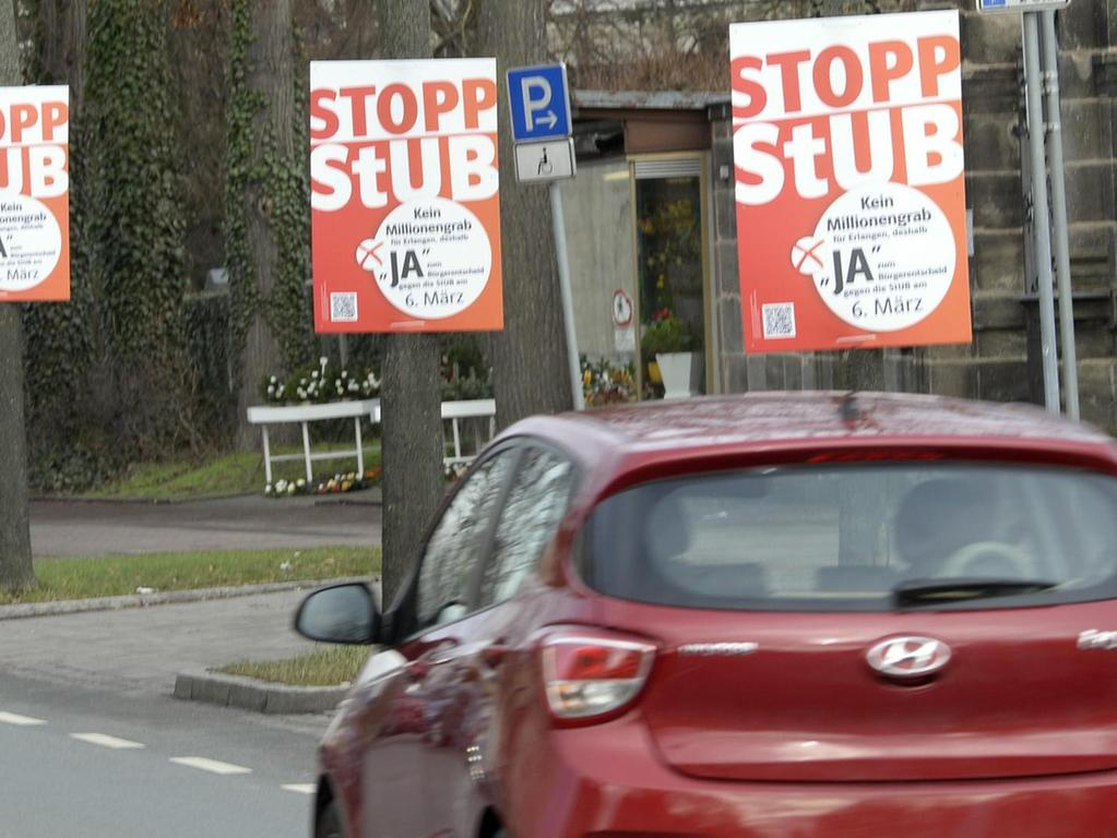 """""""Stopp StUB"""": Die Gegner der Stadt-Umland-Bahn favorisieren alternative Konzepte."""