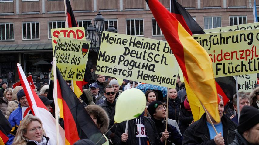 Einige Hundert kamen zur Demo der Russlanddeutschen