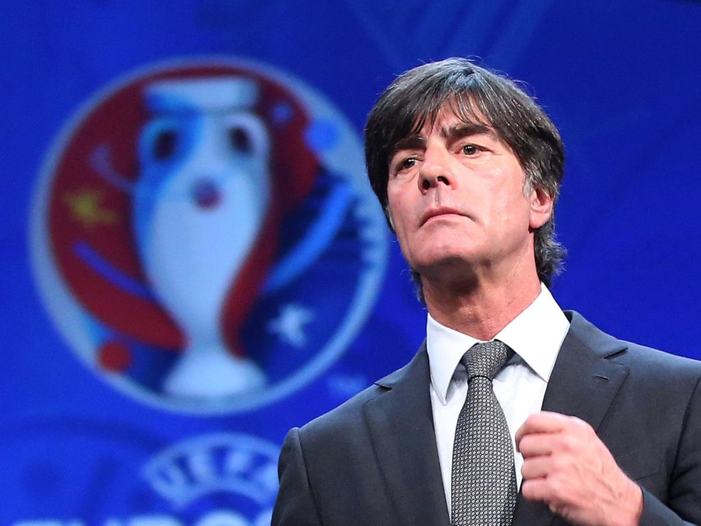 FILE - Germany's national soccer team coach Joachim Loew walks on the stage  during the UEFA EURO 2016 final draw ceremony at the Palais des Congrès in  Paris, France, 12 December 2015. Photo: Christian Charisius/dpa (zu