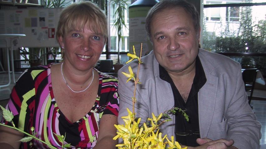 Mit der Buchautorin Andrea Queck, geborene Elßmann, saß Walter Wagner auf dem