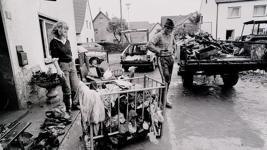 1985: Als Pölling unter Wasser stand