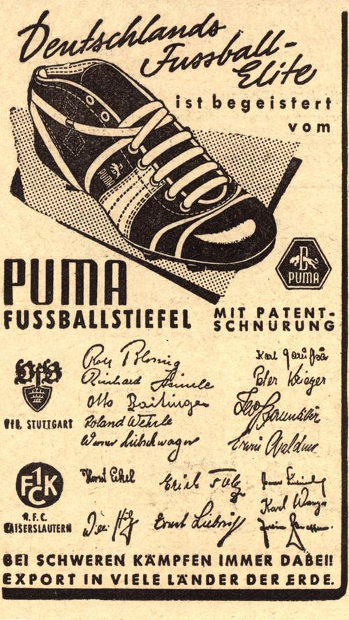 Im Jahr 1948 spalten die zerstrittenen Brüder das Unternehmen auf: Daraus gingen die Firmen Puma unter der Leitung von Rudolf Dassler und Adidas mit Adi Dassler als Chef hervor.