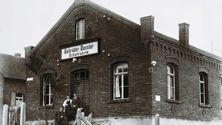 Die erste Schuhfabrik der Gebrüder Dassler, in der die beiden ihre ersten Sportschuhe herstellten.