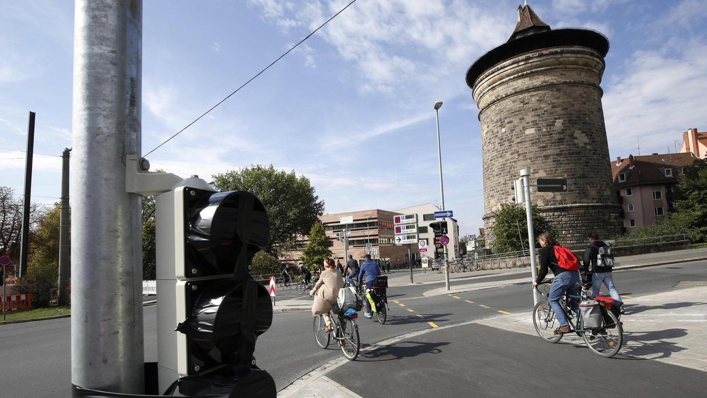 Auch in Nürnberg (Bild) sind die Fahrradwege ausgebaut worden. Eine Pflicht, diese auch zu benutzen, ist aber nur noch selten gegeben.