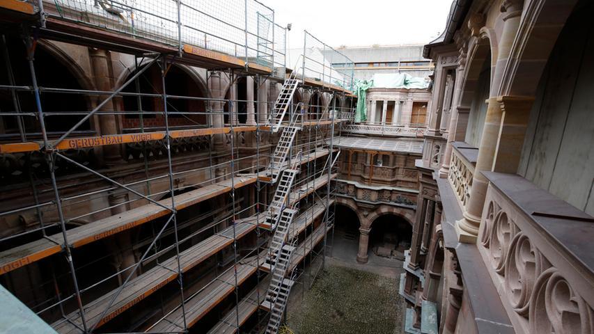 Baustellenbegehung am Pellerhaus: