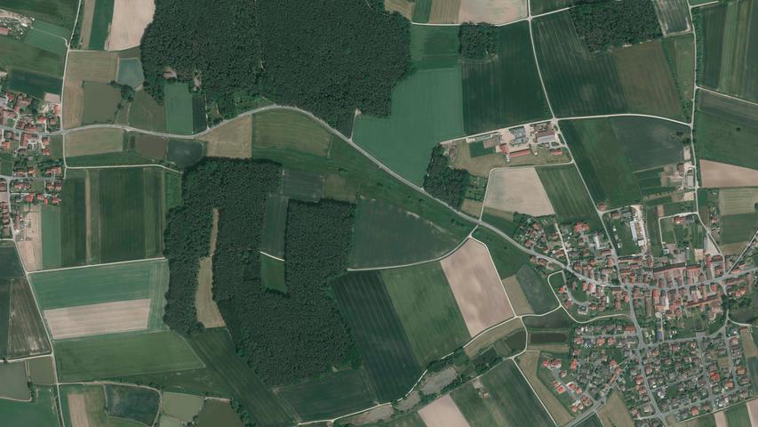 ... Beutelsdorf (links) und Haundorf (rechts) noch immer.