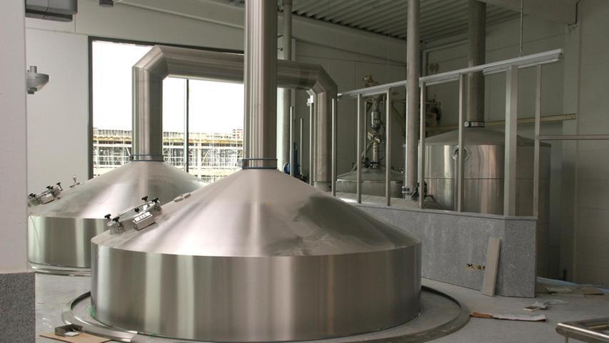 So modern sehen die Braukessel der Tucher Brauerei aus.