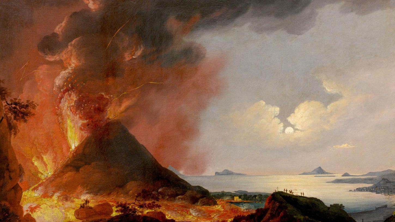"""""""Ausbruch des Vesuvs II"""" von Peter Conrad Schreiber (1816-1894)."""