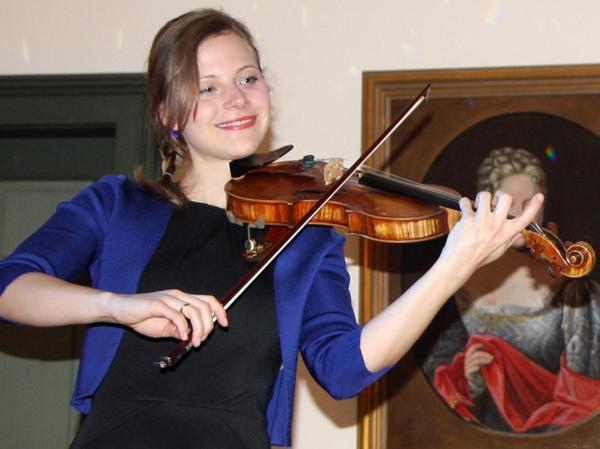 Anne Maertens, Teil des Feuerbach-Quartetts, begeisterte an der Violine.