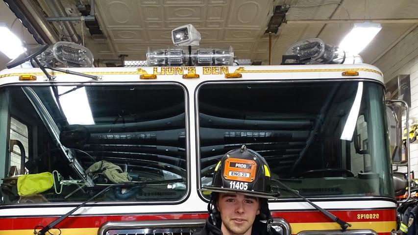Firefigter auf Probe: Nico Aschenbrenner aus Ottensoos.