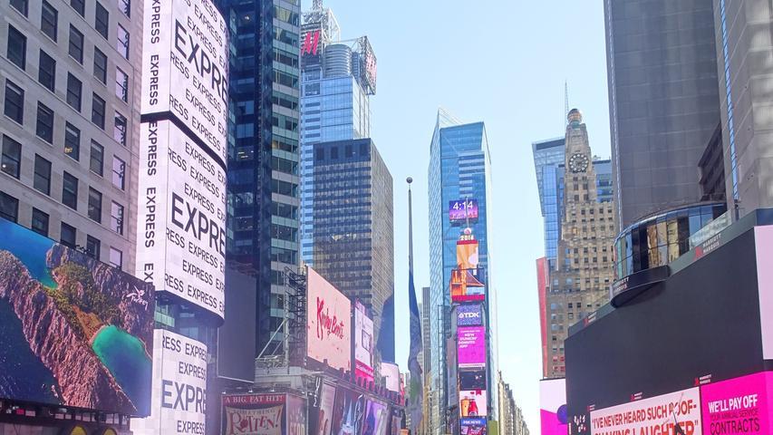 Das Hotel lag nur 100 Meter entfernt vom Times Square.