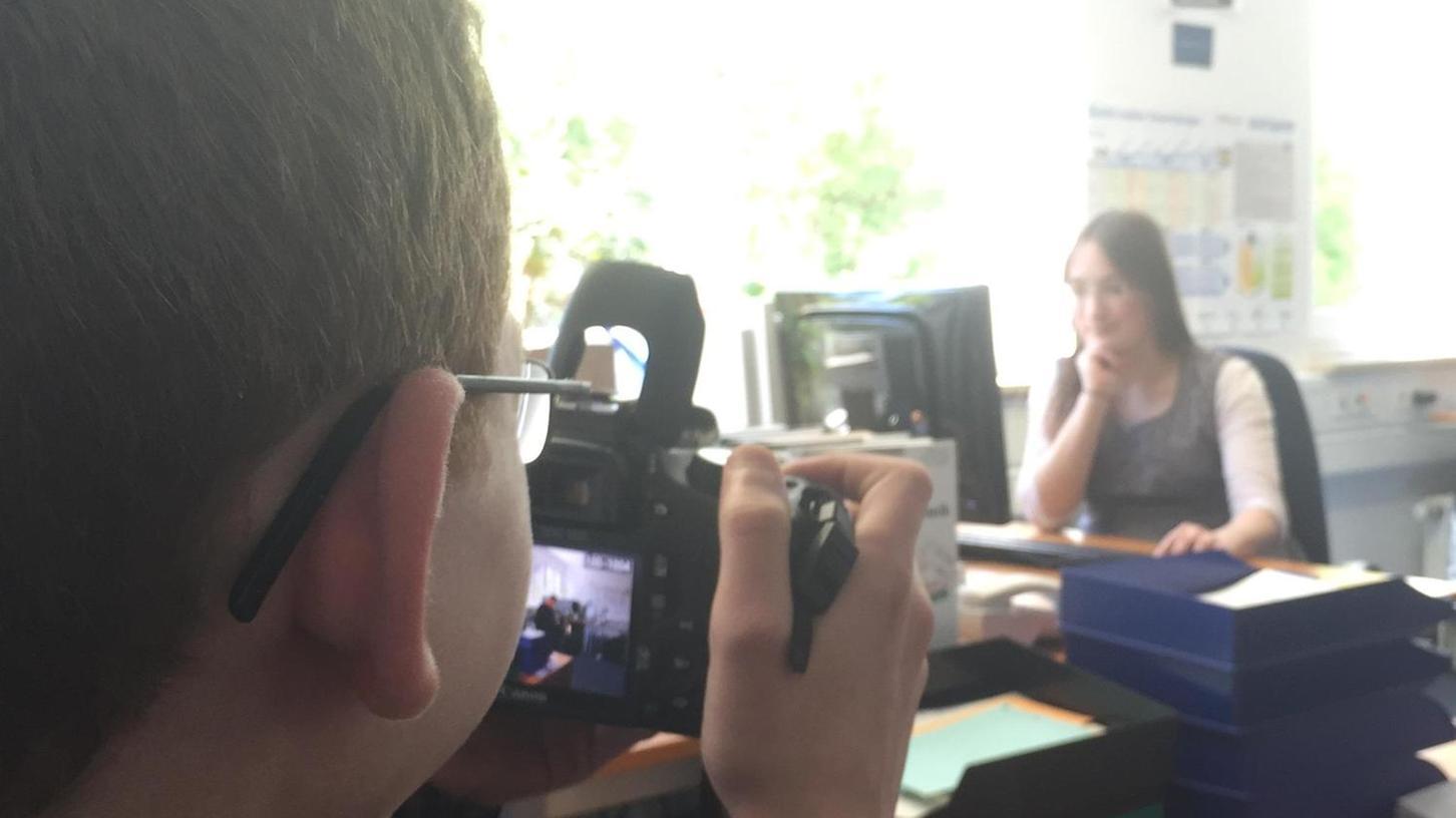 Schülerpraktikant Nabhan war während seines zweiten Praktikums unterwegs als Fotograf für das imbus-Marketing.