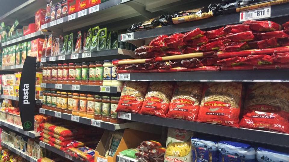So sieht ein Supermarktregal in Kapstadt aus. Im Prinzip auch nicht anders als bei uns.