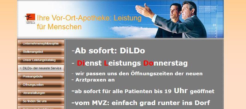 Soll mehr Kundenverkehr bringen: Der neue DiLDo-Service der Apotheke am Rathaus in Burgebrach.
